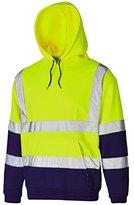 Myshoestore Hi Vis Hooded Sweatshirt High Visibility Reflective Safety Jacket Sweat shirts