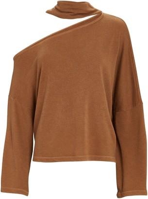 Enza Costa Detached Mock Neck Sweatshirt