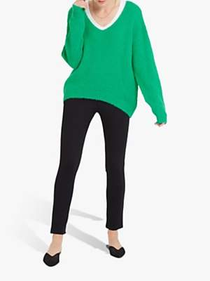 NRBY Millie Chunky V-Neck Knit Sweater