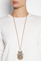 Swarovski Bijoux Heart La Terre D'Or gold-plated crystal necklace
