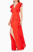 BCBGMAXAZRIA Callie Ruffled Gown