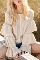 Elan International Sweater With Ruffles