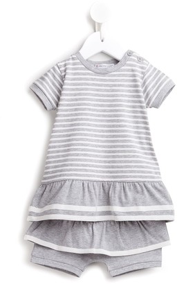 Moncler Enfant Striped Tiered Shorties