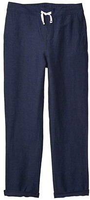 Janie and Jack Linen Pants (Toddler/Little Kids/Big Kids) (Navy) Boy's Casual Pants