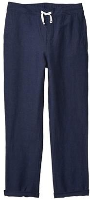 Janie and Jack Linen Pants (Toddler/Little Kids/Big Kids) (Navy) Boy's Casual Pants