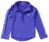 Under Armour Little Girls 2T-6X 1/4-Zip Long-Sleeve Tee