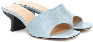 BY FAR Croc-embossed leather sandals