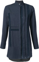 Akris Punto high neck denim shirt - women - Cotton - 4