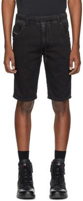 Diesel Black Denim D-Krooshort Shorts
