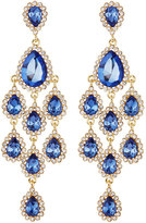Fragments for Neiman Marcus Crystal Statement Chandelier Earrings, Blue