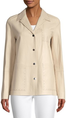 Lafayette 148 New York Jolisa Glazed Leather Jacket