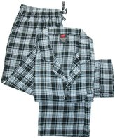 Hanes Men's Big and Tall Cotton Flannel Pajama Set, 5X