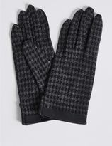 Marks and Spencer Houndstooth Gloves with Cuff