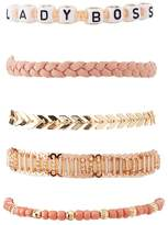 Charlotte Russe Lady Boss Layering Bracelets - 5 Pack