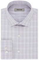 Kenneth Cole Reaction Men's Dry-Tek Slim-Fit Flex Collar Wrinkle Free Stretch Dahlia Purple Check Dress Shirt
