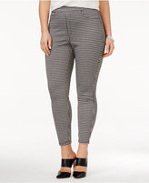 Hue Women's Plus Size Gingham Denim Skimmer Leggings