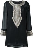 Steffen Schraut sheer sleeves tunic - women - Polyester - L