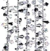 Kurt Adler Iridescent Silver Large Twinkle Ice Double Twist Bead Garland, Set of 2