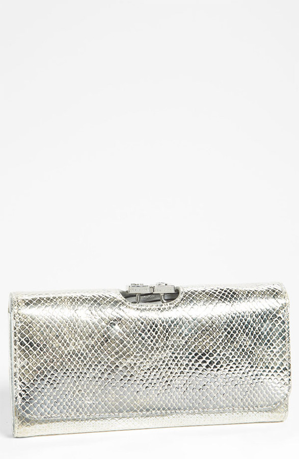 Ted Baker 'Exotic' Embossed Leather Matinee Wallet