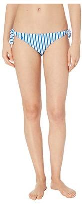 Polo Ralph Lauren Coastal Stripe Tie Side Hipster (Cobalt) Women's Swimwear
