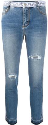 Ermanno Scervino Lace Trim Jeans