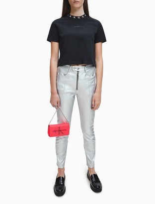 Calvin Klein Skinny Fit Moto Faux Leather Pants