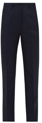 Giuliva Heritage Collection The Altea High-rise Linen-blend Trousers - Navy