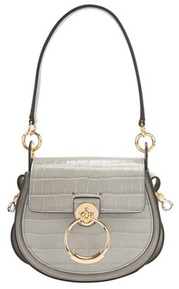 Chloé Tess small bag in croc-effect embossed leather