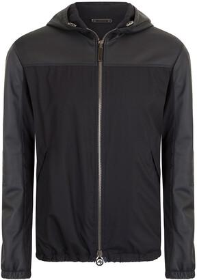 Stefano Ricci Men's Lamb Leather Hooded Blouson Jacket