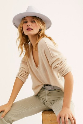 Free People Wythe Leather Band Felt Hat