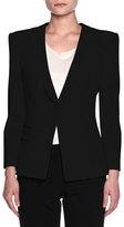 Giorgio Armani Double-Pocket One-Button Jacket, Black