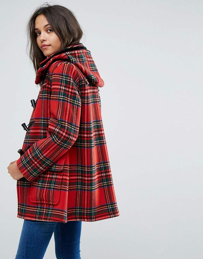 Gloverall Exclusive Check Duffle In Royal Stewart Tartan