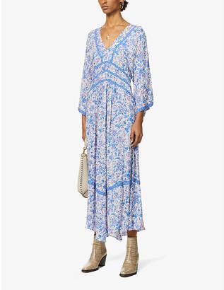 BA&SH Baby floral-print woven midi dress
