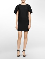 Calvin Klein Flutter Back Sleeveless Shift Dress