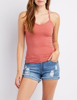 Charlotte Russe Ribbed Racerback Cami