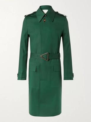 Bottega Veneta Cotton-Blend Trench Coat - Men - Green
