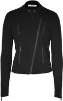 J Brand Black Wool Jersey Biker Jacket