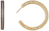 Freida Rothman Two-Tone Radiance CZ Hoop Earrings