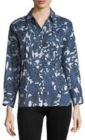 Burberry Posy Printed Bib Shirt