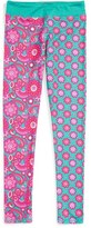 Girl's Chooze 'Splits' Mixed Print Leggings
