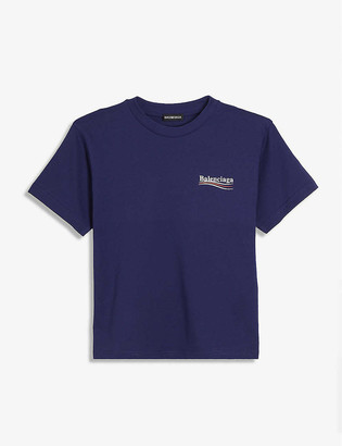Balenciaga Political logo-print cotton T-shirt 4-10 years