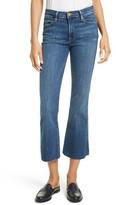 Frame Women's Le High Flare Raw Edge High Waist Crop Jeans