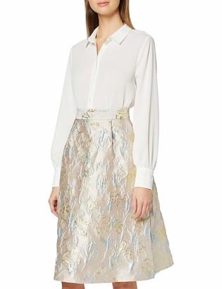 Dorothy Perkins Women's Luxe Grey Metallic Jacquard Midi Skirt 18