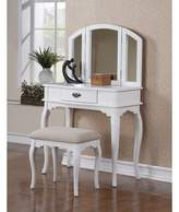 Charlton Home Holzer Wooden Vanity Set with Mirror Charlton Home Color:  White