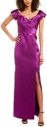 Marchesa Silk-Blend Gown