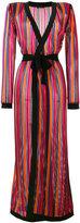 Balmain long open knit cardigan - women - Viscose/Polyamide - 38