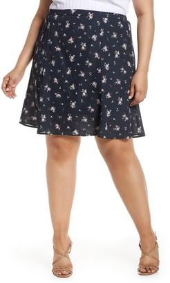 Bobeau A-Line Skirt (Plus Size)