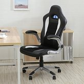 Bellezza Executive Racing Style Bucket Seat PU Leather Office Chair Computer 360° Swivel, Black