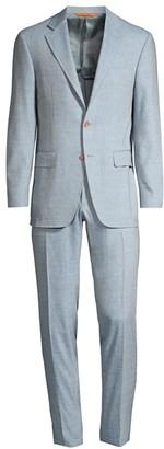 Canali Pave Linen-Blend Suit