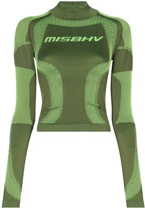 Misbhv Panelled Jacquard Logo Performance Top